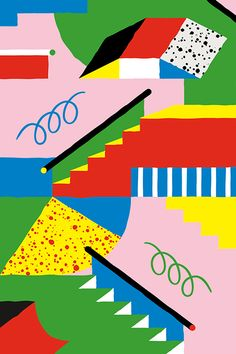 Carefully Composed Graphic Images in Bold Colours by Toni Halonen | Ape on the Moon