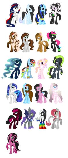 FULL VIEW PLEASE Finally, after hours and hours of work. An overview of all my MLP OC's I'm glad I finally got to finish and upload it. This will be updated when I get more OC's! You can count th. Dessin My Little Pony, Mlp My Little Pony, My Little Pony Friendship, Mlp Adoption, Mlp Characters, Little Poni, M Anime, Fairytale Fantasies, Mlp Pony