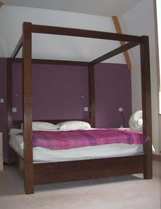 Contemporary Four Poster Bed contemporary square four poster bed, with a dulux linnet white