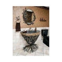 Quiescence Organic Suites Embracious Aspen Forest Iron Pedestal Bathroom Sink