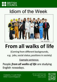 From all walks of life