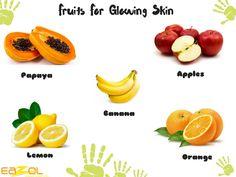 Fruits for Glowing Skin by #eazol www.eazol.in