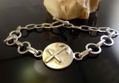 Sagittarius Zodiac ID Bracelet W/ Toggle, Handmade, .925 Sterling, SZ-7.25 #Handmade #ZodiacSagittariusIDBracelet