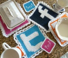 Social Media Potholder - double thicken the holder for extra protection