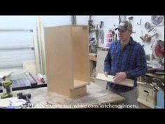 How to Build Kitchen Cabinet Carcass Easy tutorial to build your own kitchen cabinet carcass with pocket holes Power Tools Buzz How To Make Kitchen Cabinets, Kitchen Cabinets Parts, Building Kitchen Cabinets, Country Kitchen Cabinets, Kitchen Cabinet Drawers, Cabinet Plans, Built In Cabinets, Cabinet Furniture, Wood Cabinets