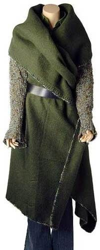 surplus army blanket coat tutorial with a crocheted edging