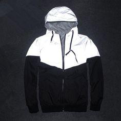 Men's Jacket Autumn Patchwork Reflective Waterproof Windbreaker – Xamns