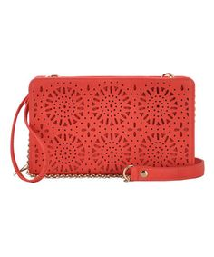Another great find on #zulily! Coral Floral Texture Clutch #zulilyfinds