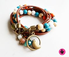 Leder & Perlen Jewlery, Charmed, Etsy, Princess, Bracelets, Fashion, Beads, Wristlets, Leather