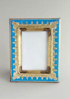 Gilded Blue Versailles Frame