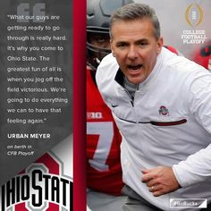 Buckeyes for life! Ohio State Football Coaches, Buckeyes Football, College Football Teams, Football Is Life, Ohio State Buckeyes, Football Memes, Buckeye Sports, Osu Schedule, Ohio Stadium