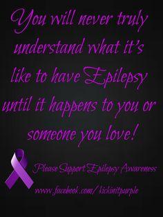 Epilepsy Awareness Epilepsy Facts, Epilepsy Quotes, Epilepsy Awareness Month, Epilepsy Seizure, Awareness Tattoo, Temporal Lobe Epilepsy, Tuberous Sclerosis, Seizure Disorder, Seizures