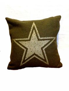 Army Star Pillow from Military Blanket. $58.00, via Etsy.