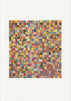 Alighiero Boetti, Einladungskarte, Galerie Kaess-Weiss, Stuttgart, 1990