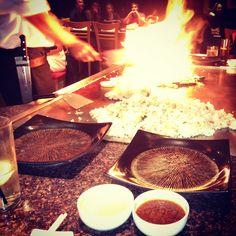 Benihana's teppanyaki... Yum!
