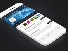 iOS #App Dashboard #Design - Via http://www.themangomedia.com/blog/gorgeous-user-interface-design-inspiration/ @teammangomedia