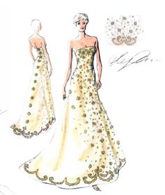 Wedding Gown by Oleg Cassini. A classic A-line design with an embellished bodice.