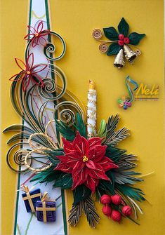 Neli Quilling Art: Preparation for Christmas _ # 1