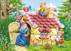 O perníkové chaloupce. The gingerbread house. Hansel Y Gretel, Candy House, Christmas Crafts, Christmas Ornaments, Album, Candyland, Grimm, Art School, Decor Crafts