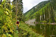 Nash Masson in the Monashee Mountains, Three Valley Gap, British Columbia