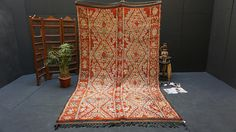 Large Red Berber 6x10 Vintage Moroccan rug fabulous OLD