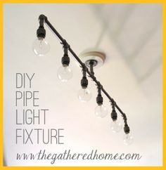 How to Make A DIY Plumbing Pipe Light Fixture!