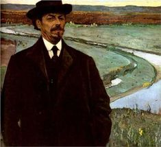 Mikhail Nesterov - Self-Portrait - Born: 31 May 1862; Ufa, Russian Federation - Died: 18 October 1942; Moscow, Russian Federation -  Russian painter. Movement: Symbolism