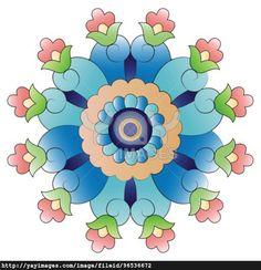 Ottoman art flowers twenty four
