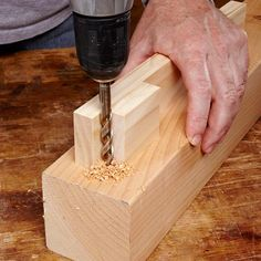 Straight-Up Drill Guide - To bore a perfectly perpendicular hole, you need either a drill press or a couple of scraps of wood screwed together. The corner created by the scraps will steer the bit straight in every time. But if you're looking for an excuse to buy a drill press, forget you ever saw this tip.