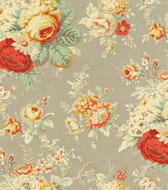 Waverly Upholstery Fabric 54\u0022-Sanctuary Rose Clay,-- For Ottoman