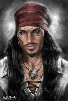 m Gypsy Sorcerer Necklace portrait Fantasy Portraits, Character Portraits, Character Art, Character Ideas, Gypsy Men, Hippie Gypsy, Pirate Face, Pirates Cove, Afro Art