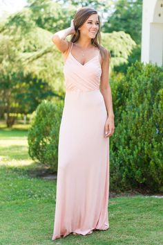 This magnificent maxi dress is back in a new beautiful shade of blush! This maxi should be on everyone's must-have list! Just look at that fit! It has our hearts racing for sure and you KNOW we could never pass up such a gorgeous shade. ;) Especially, since the jersey knit fabric keeps it so soft and comfy!