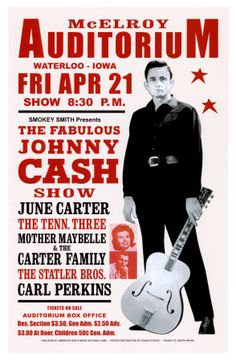 Johnny Cash-concert, 1967 Kunstdruk