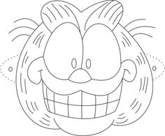 Garfield Mask printable coloring page for kids