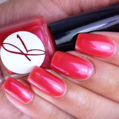 Raspberry Ginger Tea by Jior Couture part of the #jiornailsanddrink Summer Collection. Polish available now for purchase http://jiorcouture.com.  #swatch #nail #nails #indie #nailpolish #jiorcouture
