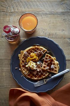 ... | Pinterest | Banana Waffles, Candied Bacon Recipe and Candied Bacon