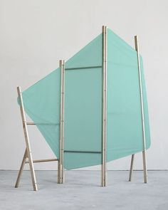"""leibal: """" Cangiante is a minimal design created by Switzerland-based design firm I + N. Respectively graduating the school of Art and Design Lausanne in 2010 and Ishmael and Nathan Studer based. Handmade Furniture, Minimal Design, Retail Design, Design Firms, Pop Up, Minimalism, Furniture Design, Decoration, Display"""