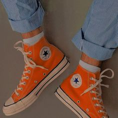 """iconic fashion on """"Sneakers"""" Look 80s, Look Retro, Sock Shoes, Cute Shoes, Me Too Shoes, Orange Aesthetic, Aesthetic Shoes, Dream Shoes, Mode Inspiration"""