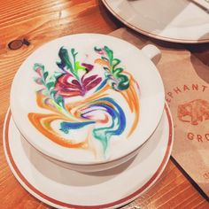 Elephant Grounds Rainbow latte Hong Kong
