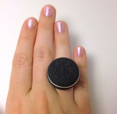 Cute Oreo Adjustable Ring from Kaputt Designs.