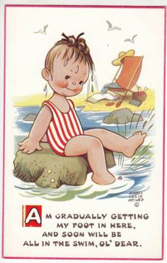 bathing.quenalbertini: Mabel Lucie Attwell card | eBay