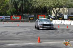 Mustang tearing up the autocross course. http://www.gearheads4life.com/event-coverage/autocross-and-burnouts-street-machine-nationals-pomona/