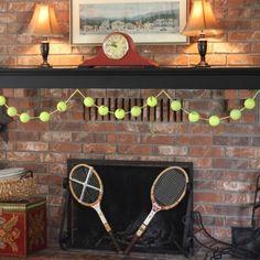 tennis ball garland Diy AnnaNimmity.com