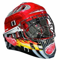 NHL Detroit Red Wings SX Comp GFM 100 Goalie Face Mask by Franklin. $36.99. Show your team spirit with the Franklin Detroit Red Wings NHL Team Goalie Mask Emblazoned with officially licensed team logos and colors and featuring High impact ABS Plastic with antimicrobial technology. Anatomically designed for safety and comfort with adjustable quick-snap straps to ensure proper fit. Sized for kids ages 5-9 and only for street hockey use. Not intended for ice hockey or any type...