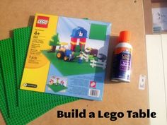 Build a Lego Table - with some simple supplies you can make your lego-maniac his or her very own building table. Great gift to make for Christmas.
