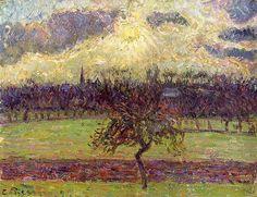 Les champs d'Éragny, le Pommier  Camille Pissarro