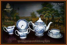 Bộ Trà Cao cấp - Gốm Sứ Minh Long 1: Bộ trà 1.3l Hồn Việt Vàng- 01134037303