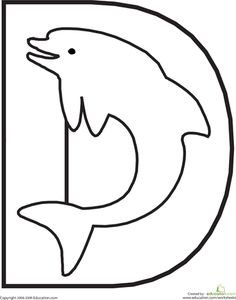 Worksheets: Letter D Coloring Page