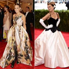 Pin for Later: From Punk to Princess: the Met Gala's Biggest Red Carpet Transformations Sarah Jessica Parker at the 2013 and 2014 Met Galas The woman commits to a theme, and for that, we love her.