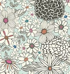 Sketch Flower Wrapping Paper